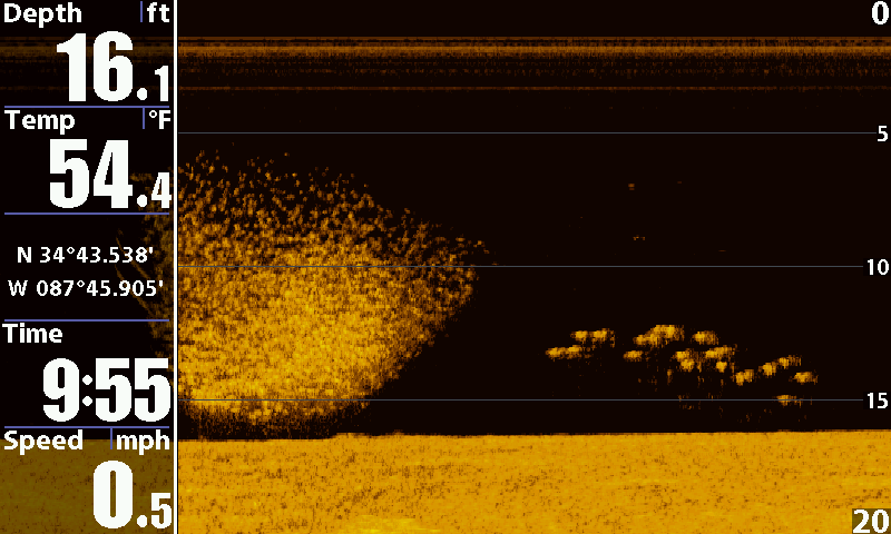 Side and down imaging for Side imaging fish finder